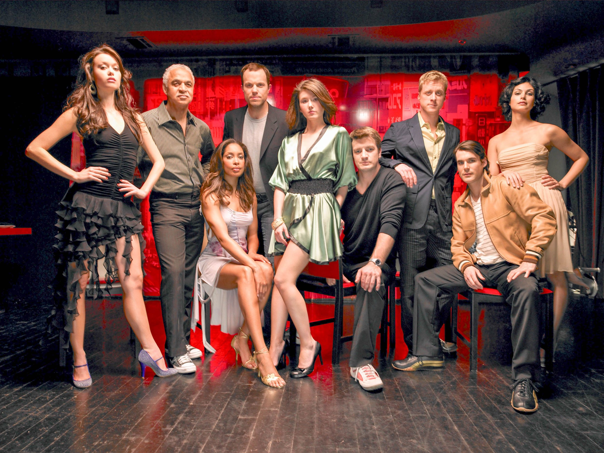 From Left to Right: Summer, Ron, Gina, Adam, Jewel, Nathan, Alan, Sean, and Morena. Our talented cast.