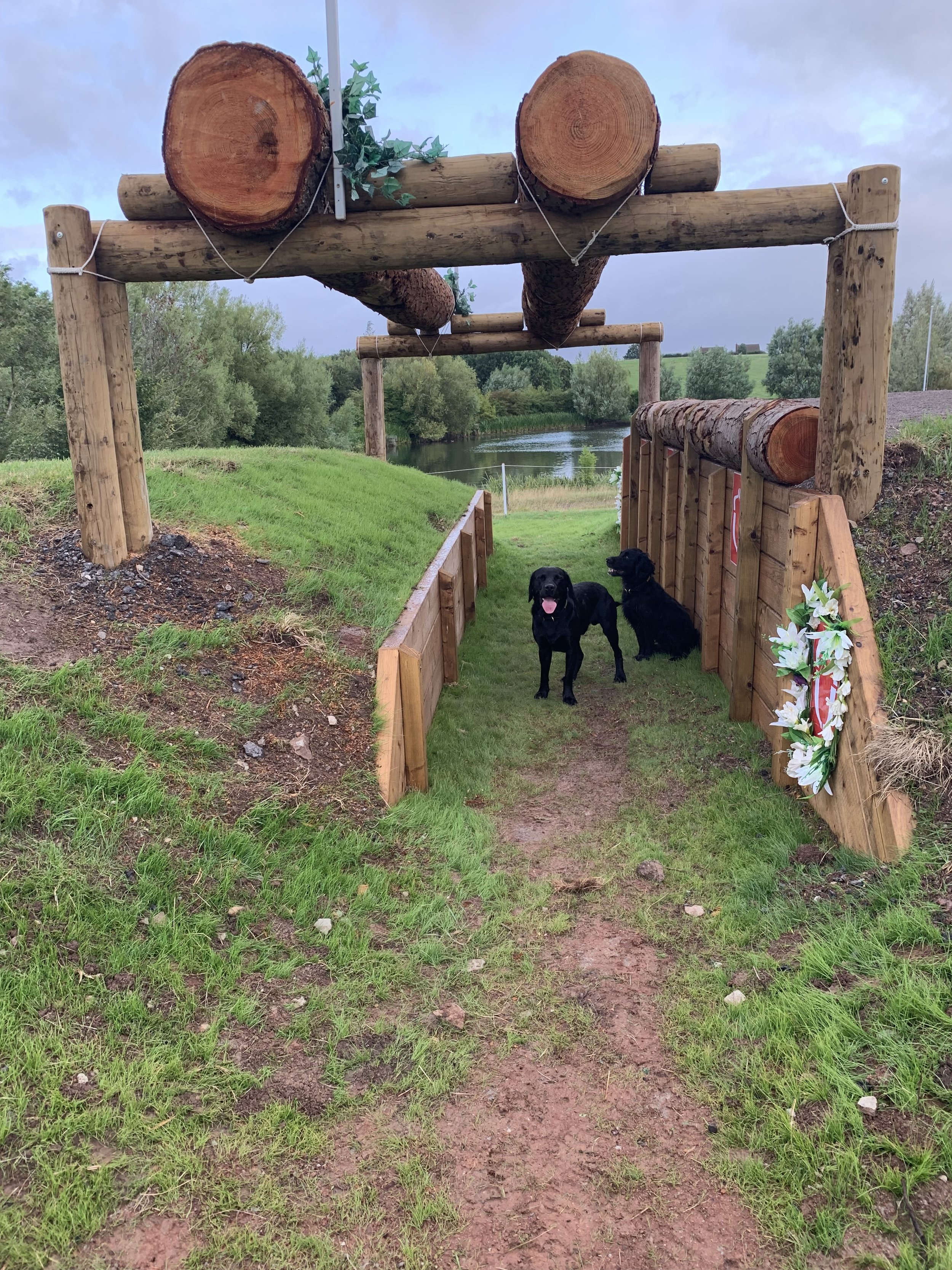 Big wide fence in the 4* at NAF International Hartpury Horse Trials