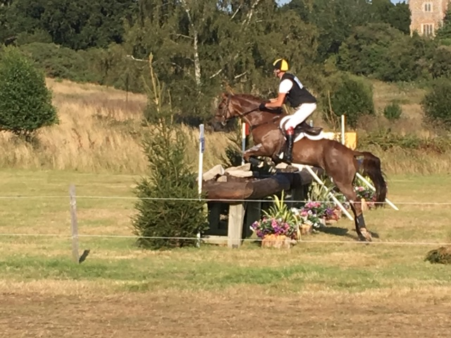 The partner flying at fence 3