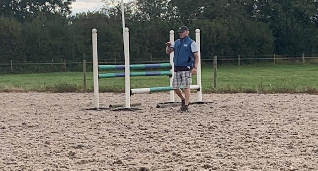 John Bowen explaining the reason for jumping this fence
