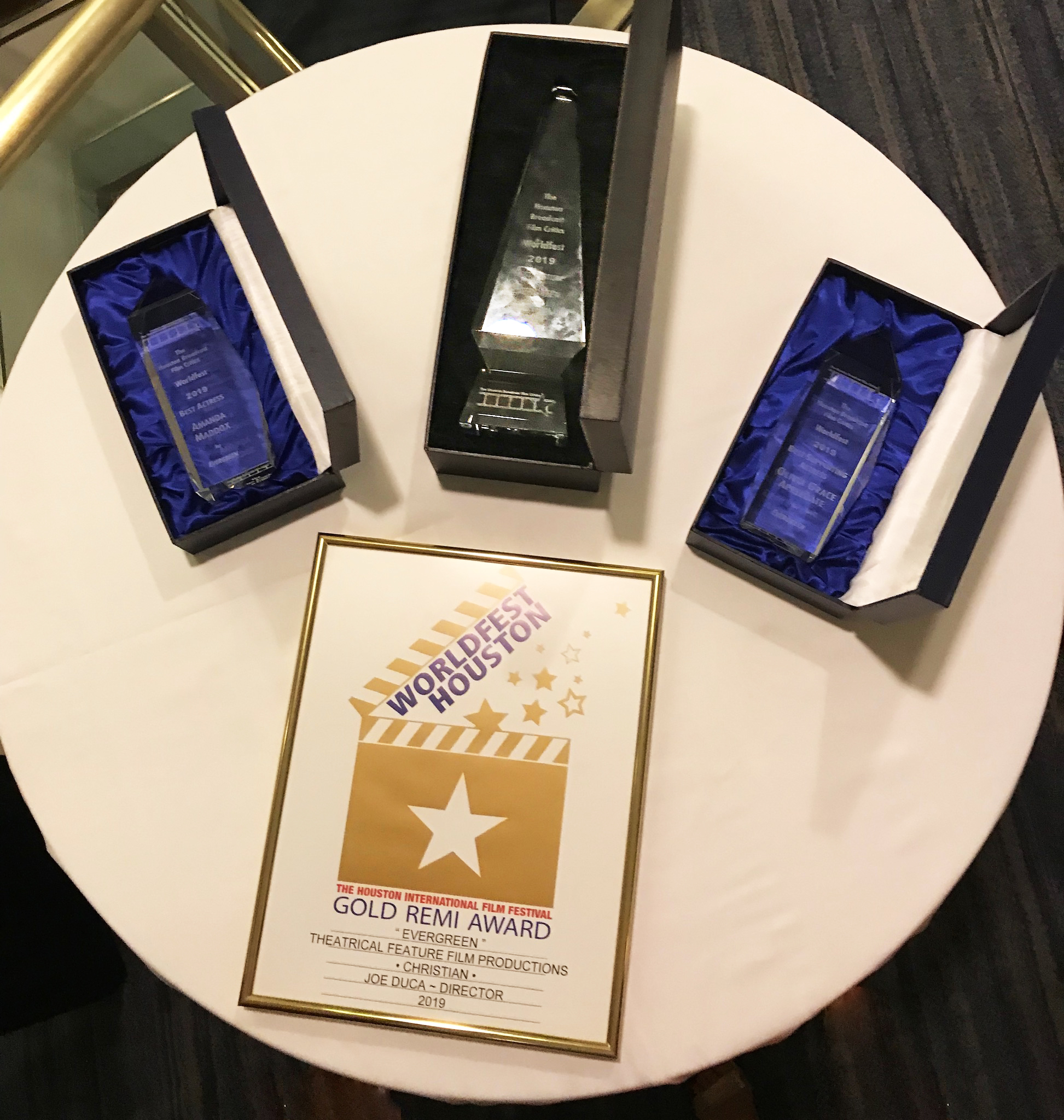 "Awards for ""Evergreen"": Best Picture, Best Actress, Best Supporting Actress, and the Gold Remi Award at the 2019 WorldFest-Houston Awards Gala"