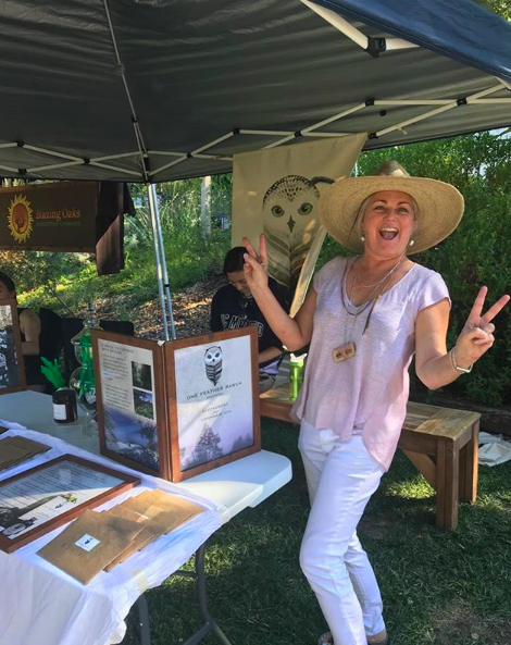 Kim Dellacorva striking a pose. Source:  One Feather Ranch on Instagram