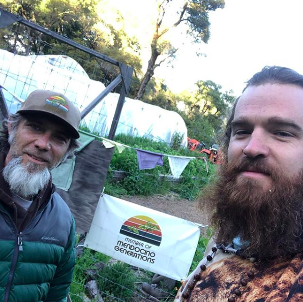Daniel Morford with Jamie Beatty, Co-Founder of  Mendocino Generations .