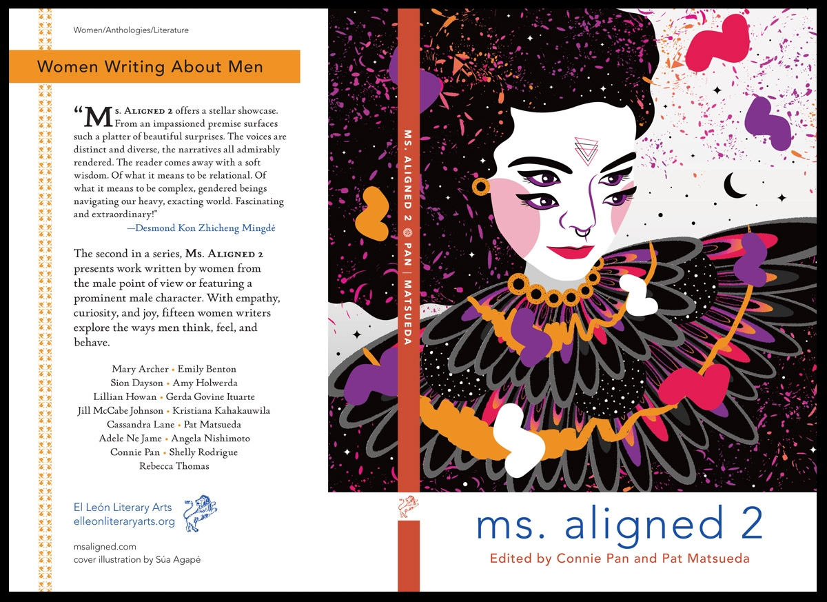 Cover spread for  Ms. Aligned,  produced in QuarkXPress.