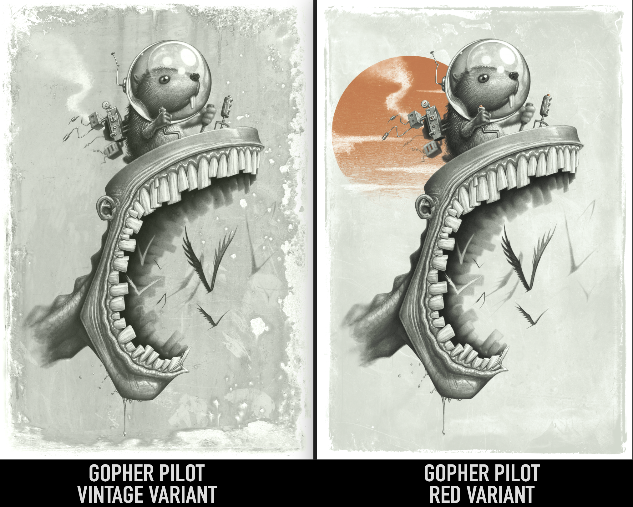 limited Gopher Pilot Variants - Limited Edition of 29 @ $145.00Deckle edge 19