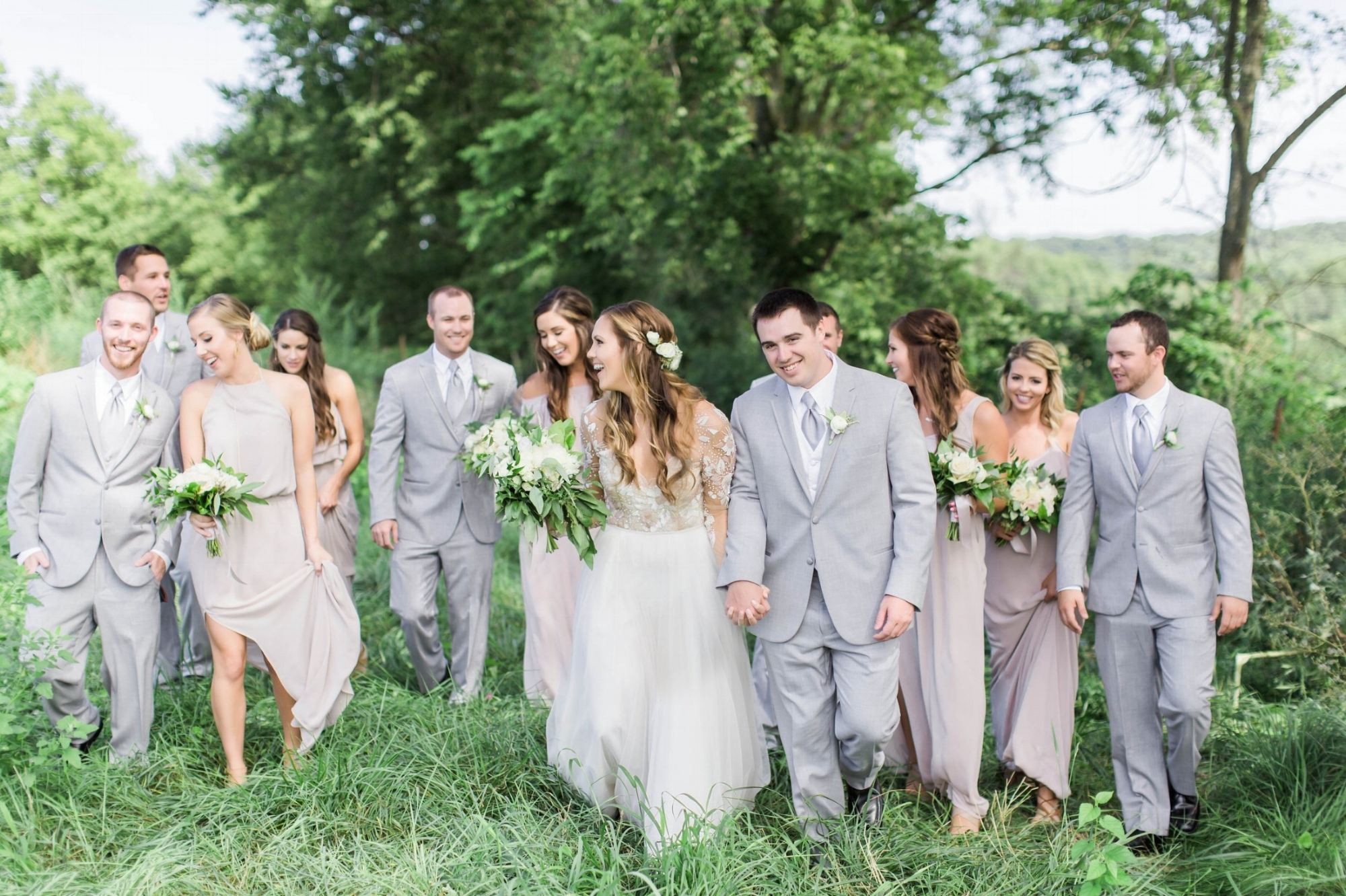 boho wedding party