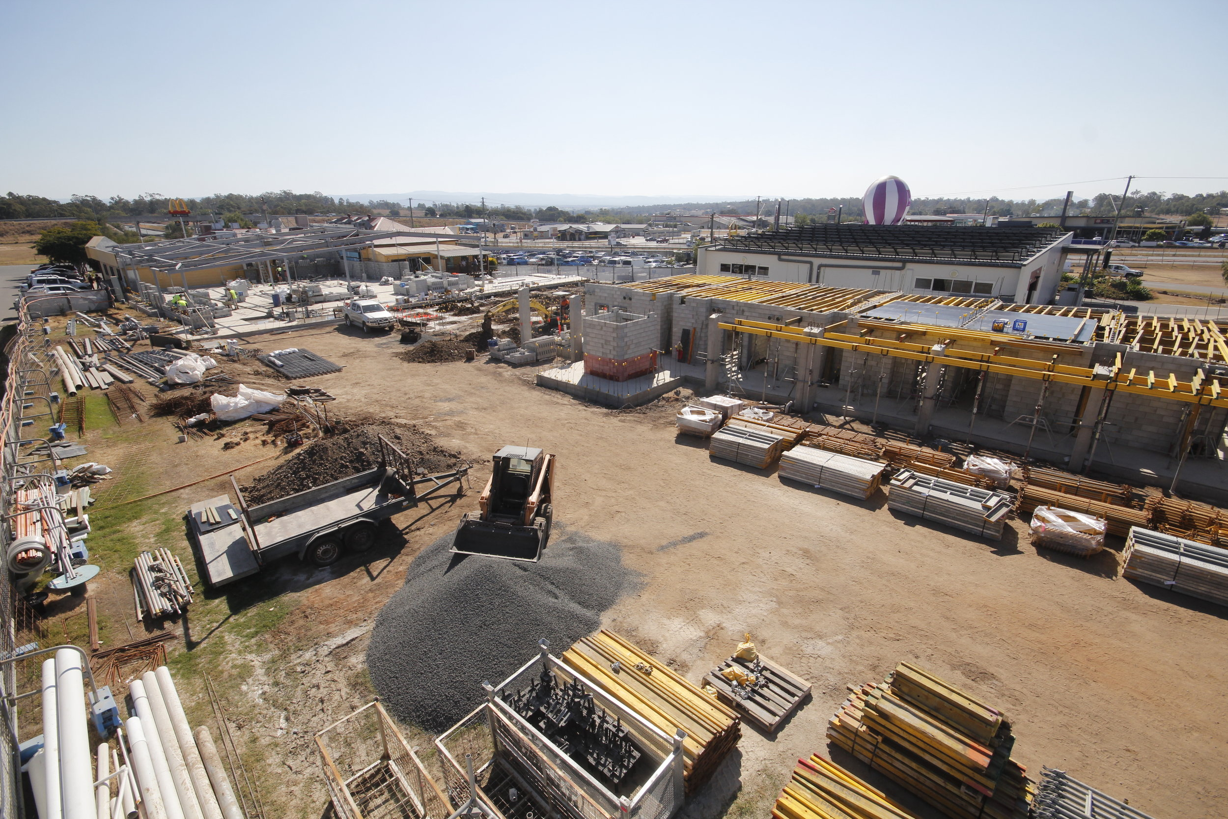 The ground floor of the Motel is well under way, and the framing is quickly going up over the new function rooms.