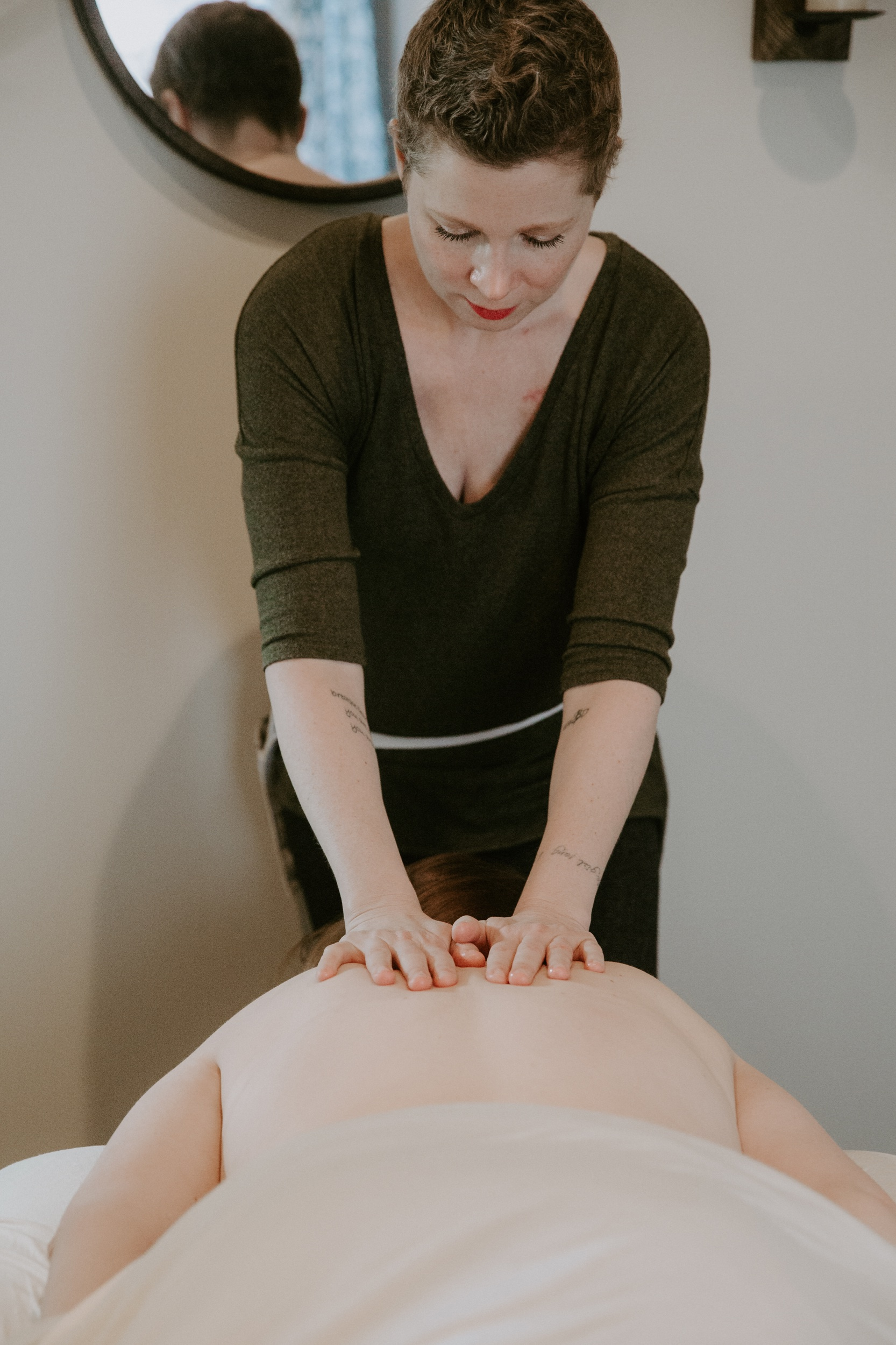Therapeutic Massage - Integrated therapeutic massage sessions result in relief from aches and pains, increased circulation, decreased stress levels,enhanced mental clarity, and greater flexibility.