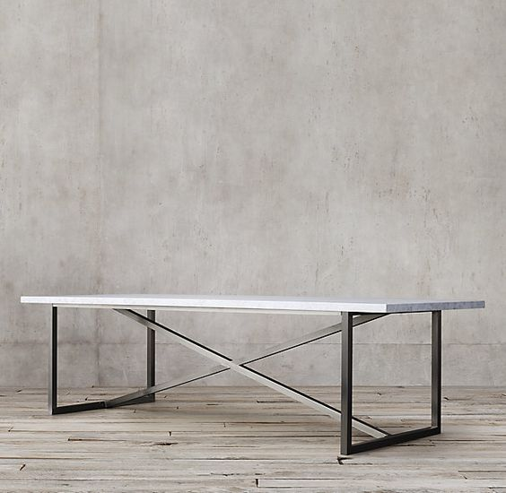 Marble and Brass Legs, Table from CB2