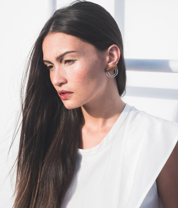 Cordillera   Based between Puerto Rico and New York, Sylma Santos-Santori hand crafts statement pieces for the contemporary woman. Jewelry inspiration comes from organic and geometric shapes found in nature as well as patterns and modern forms.
