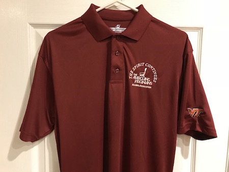 Marching Virginians Alumni Association uniform polo shirt