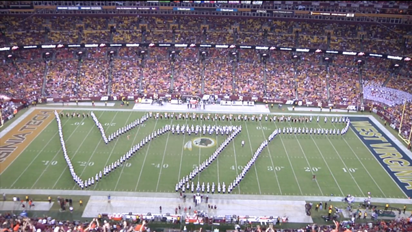A snapshot of our halftime performance; Source: Robert White