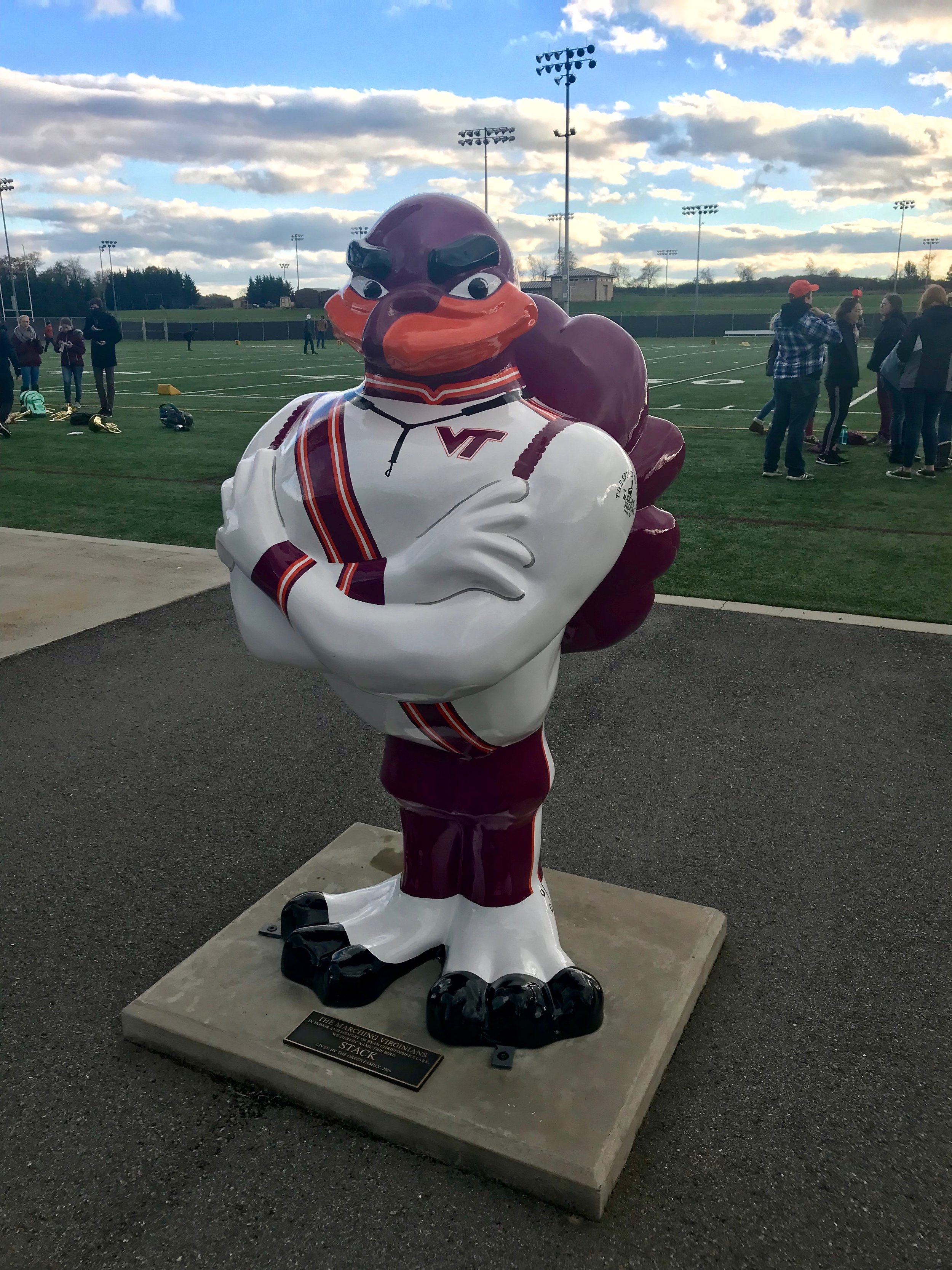 """Stack"" - The Marching Virginians Hokie Bird; Source: Ashley Deans"