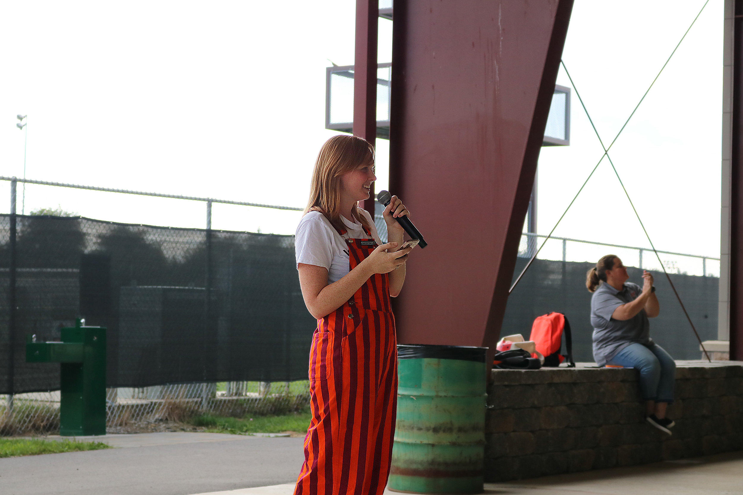Executive Officer Mackenzie Knox addressing the MV's during Band Camp; Source: Alana Hassett