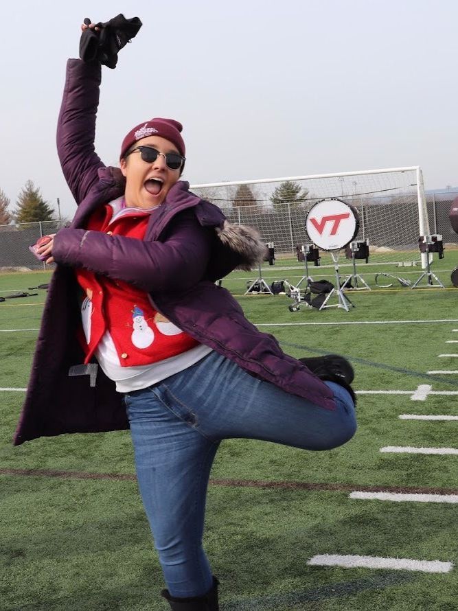 Courtney Martin on the Marching Virginians Center practice field; Source: Ashlyn McDonald