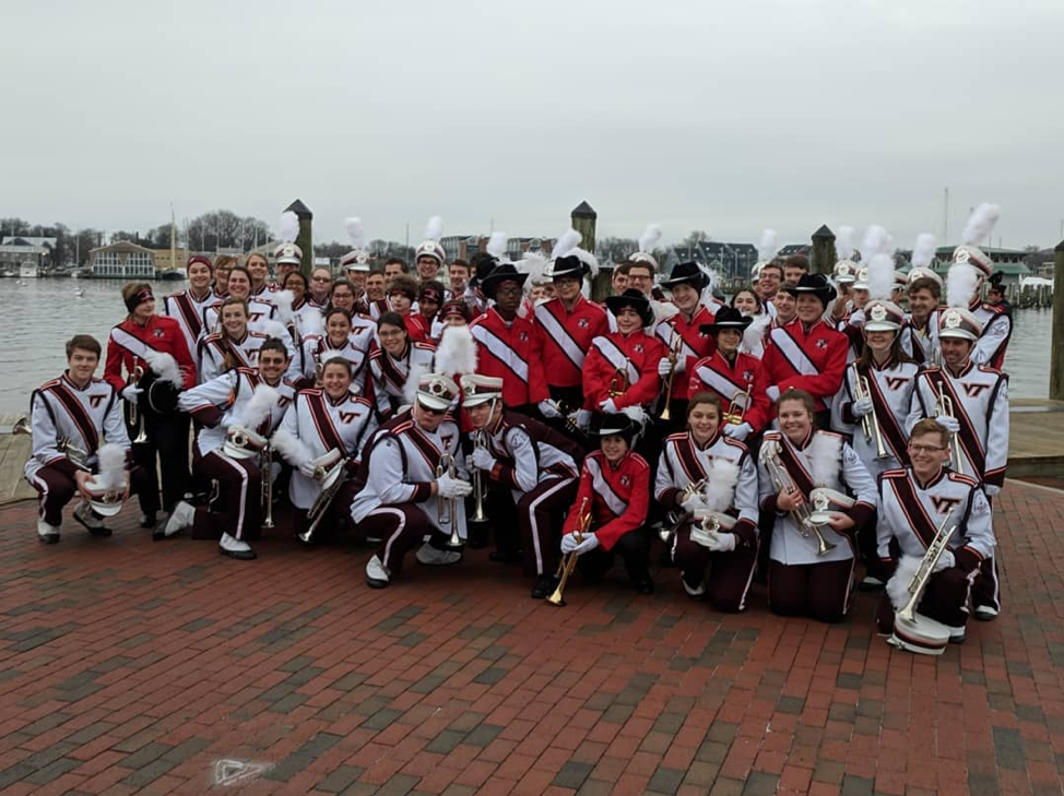 The MV Trumpet Section posing with the Northern Middle School Band Trumpet Section; Source: Northern Middle Band Boosters