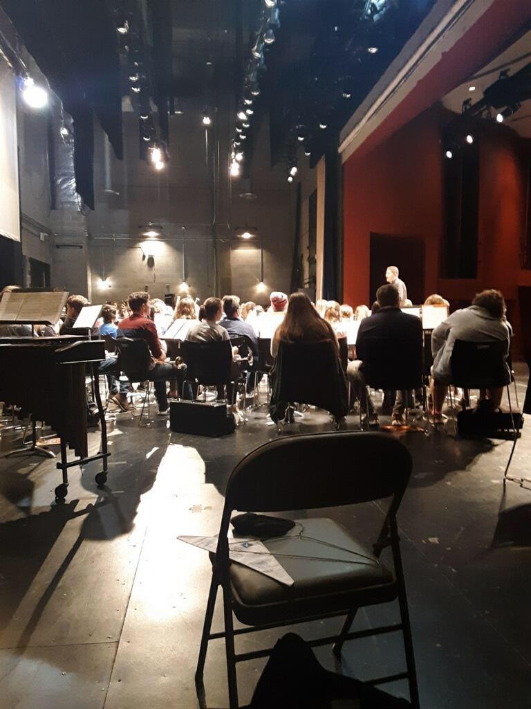 The Orange Band rehearsing prior to performance; Source: Jada Braxton