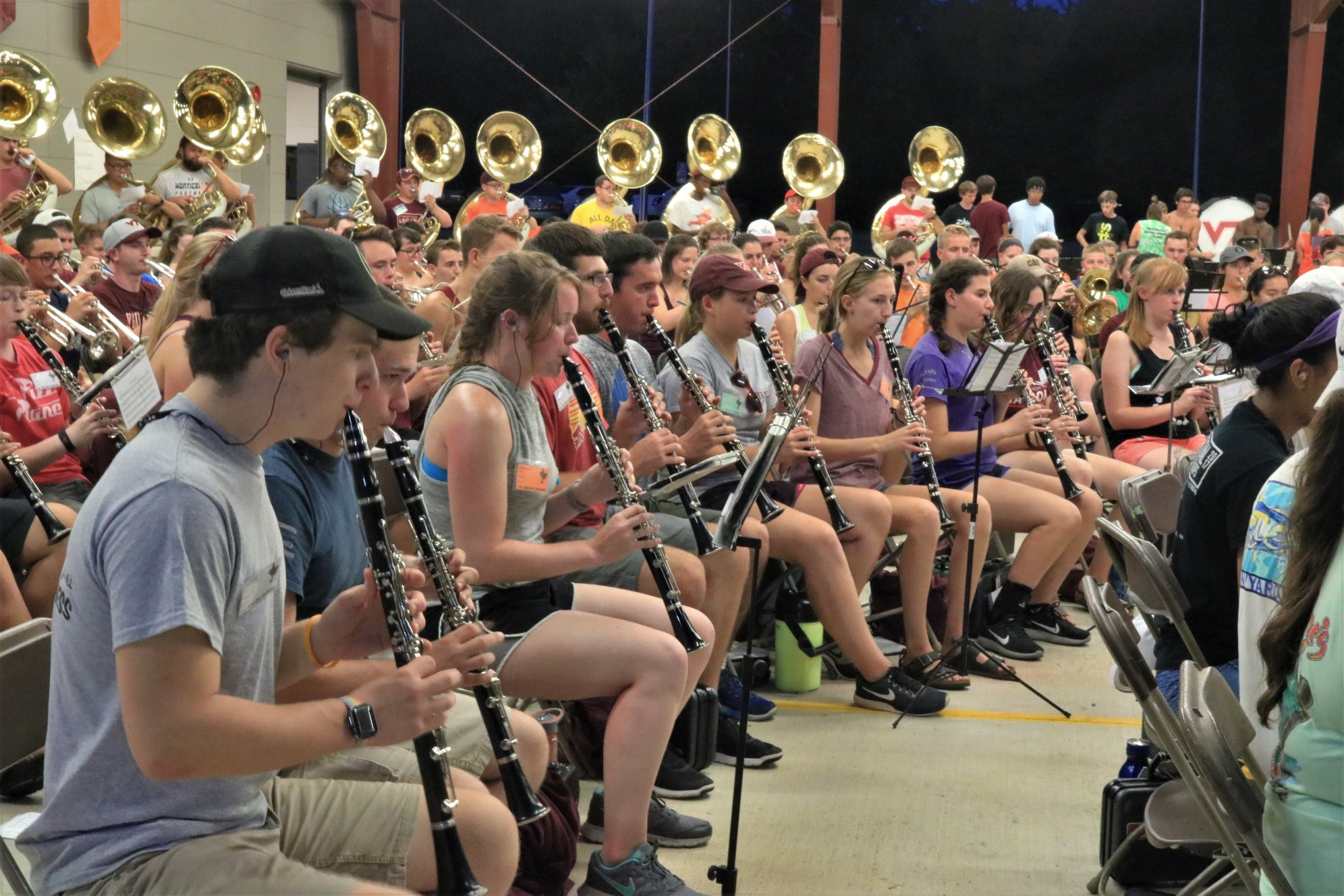 Music Rehearsal During Band Camp 2018; Source:  Facebook