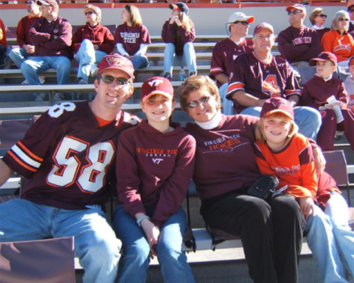 Guthrie family trip to MV alumni day circa 2005; Source: Kelly Guthrie