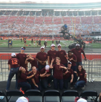 Rank 69, the managers, goofing off at Bristol Motor Speedway before The Battle at Bristol; Source: Kelly Guthrie