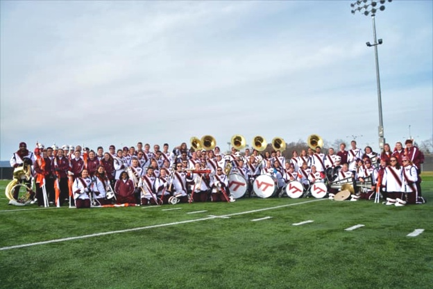 The 2018-2019 Marching Virginians seniors at their final home game; Source: The Marching Virginians
