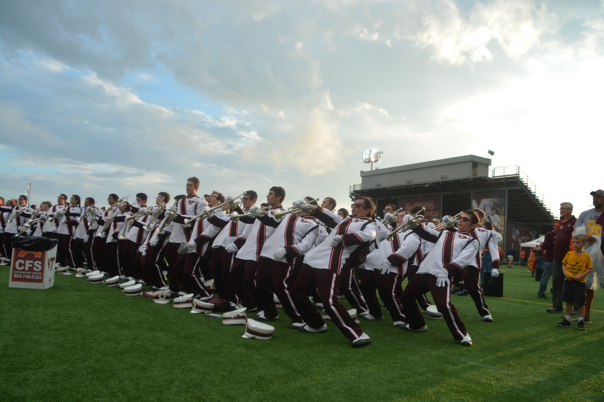 MV showing off their dance moves at Hokie Village; Source: Alana Hassett