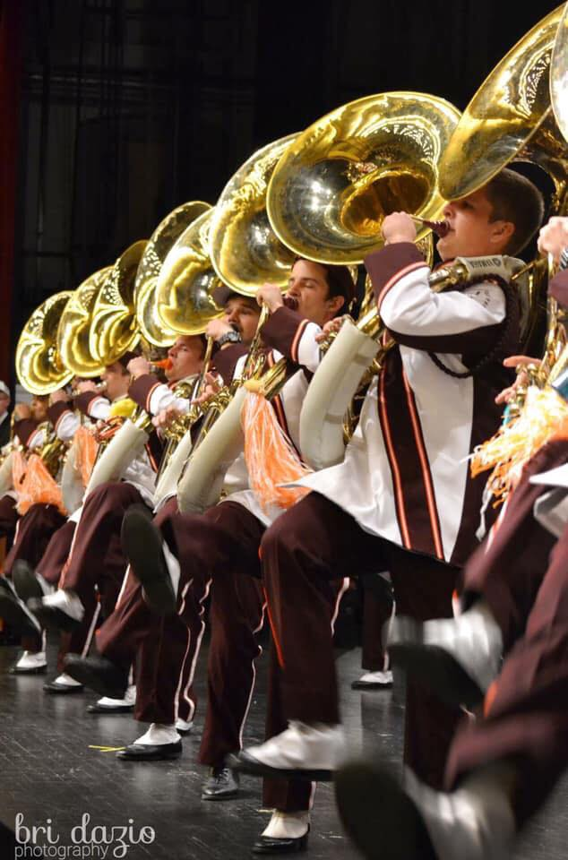 The MV Tubas doing the Hokie Pokie and showing the crowd the best our band has to offer; Source: Bri Dazio