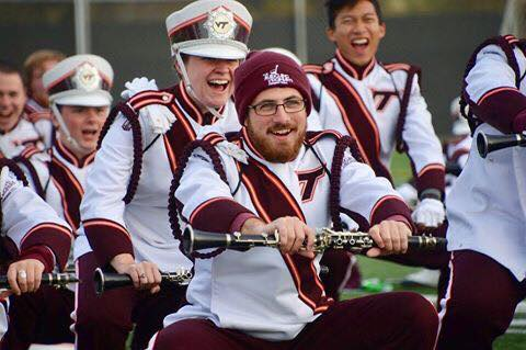 A few clarinets get pumped up for game day by doing motorcycles- something they will remember doing for years to come; Source:  Facebook