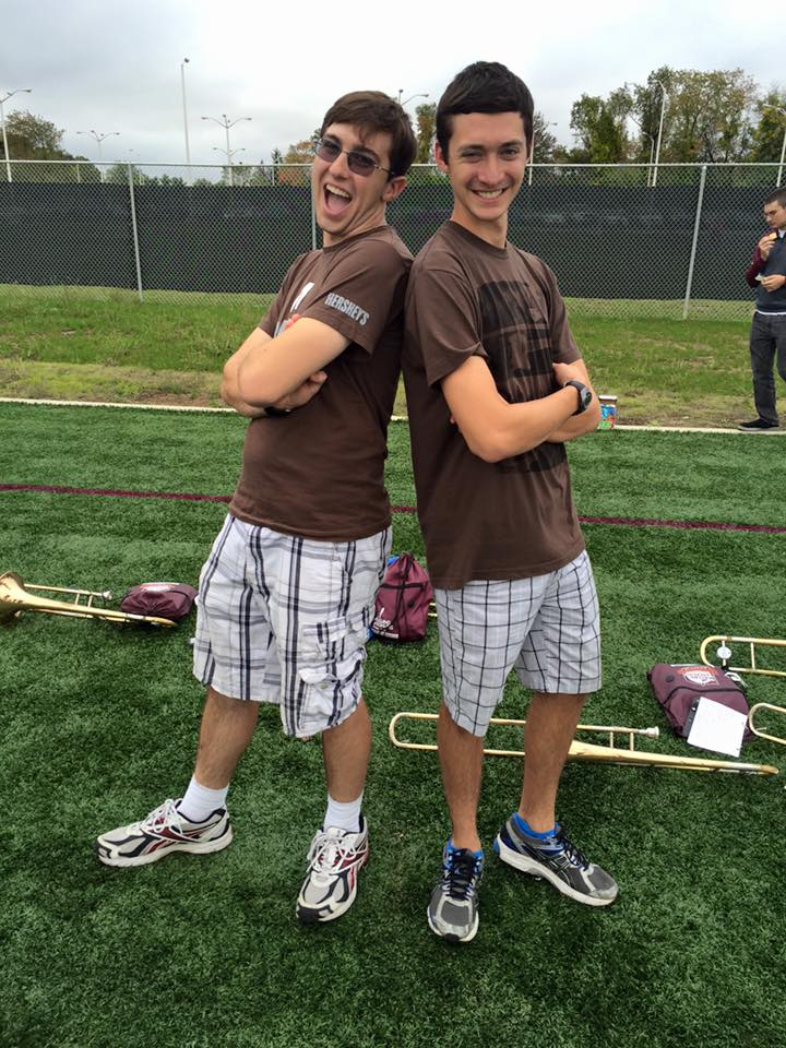 James and Evan at the start of their bromance- the day they coincidentally wore the same outfit freshman year; Source: Evan Hornstein