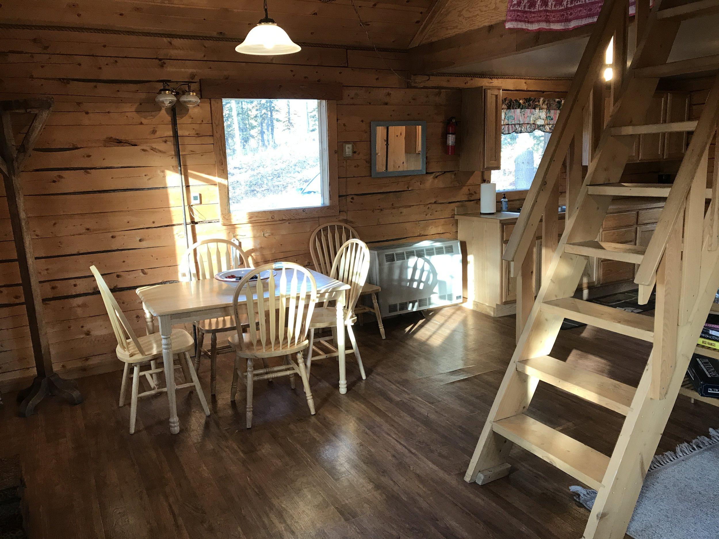 Bluff Cabin interior