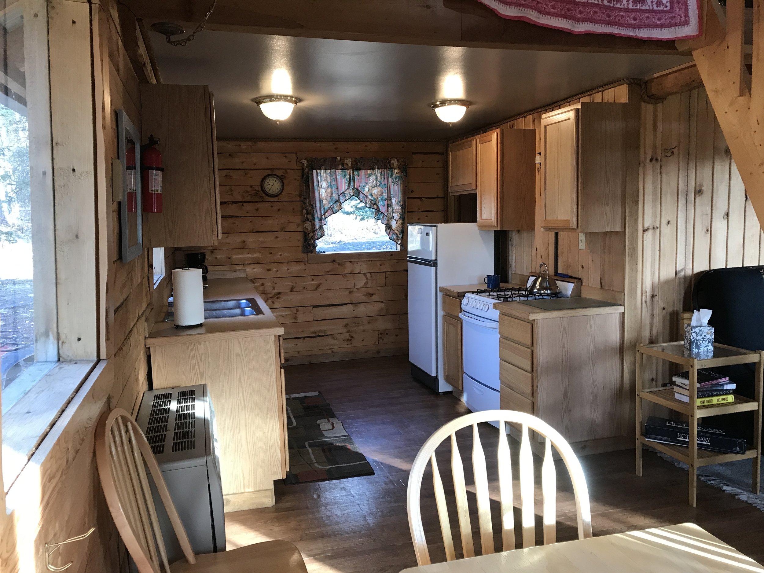 Bluff Cabin kitchen