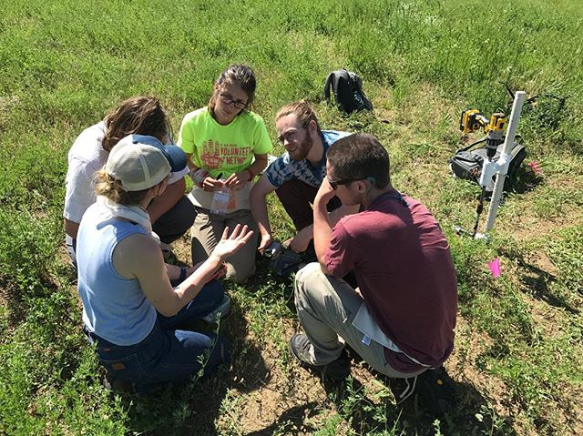 Program Manager Jaclyn Kachelmeyer training our awesome summer field crew! These four (Sophie, Sam, Sam, Matt) will be covering over a hundred thousand acres this summer. Stay tuned for more updates from the field!