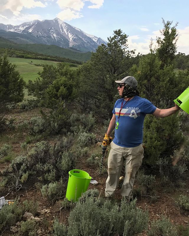 Not a bad view! Sampling in Carbondale, CO