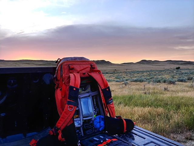 An early start and a well organized pack are essential to any day in the field #soilscience #fstopgear #fstopcommunity #sunrise #earlybirdgetstheworm
