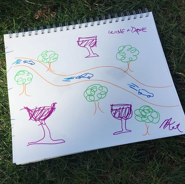 Great summer themed drawing from today 🌿🌱🍷 wanna get away from city too! Was this original work? 🤣🤣 #theforger#drawing#art🎨#artwork#wine#winery#summer#park#travel#games#indiegames#playtest#nyc#centralpark#tabletopgames#fakeart#realart#original#green#drive#getaway