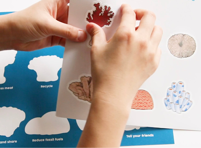 5.  Save AR Stickers as a souvenir. This helps participants review what they learned from the workshop.