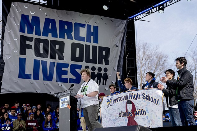 The Sandy Hook survivors made a banner to gift to the Parkland student survivors