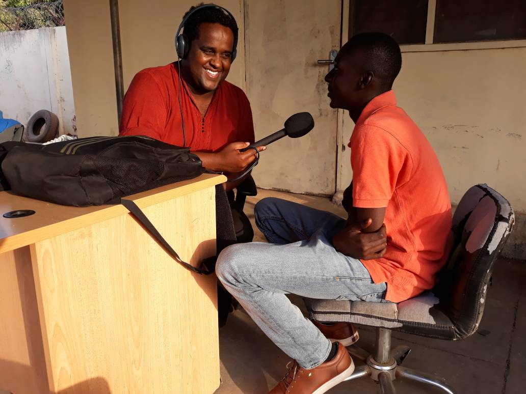 Interviewing the son of a murdered human rights activist in Serekunda, The Gambia.