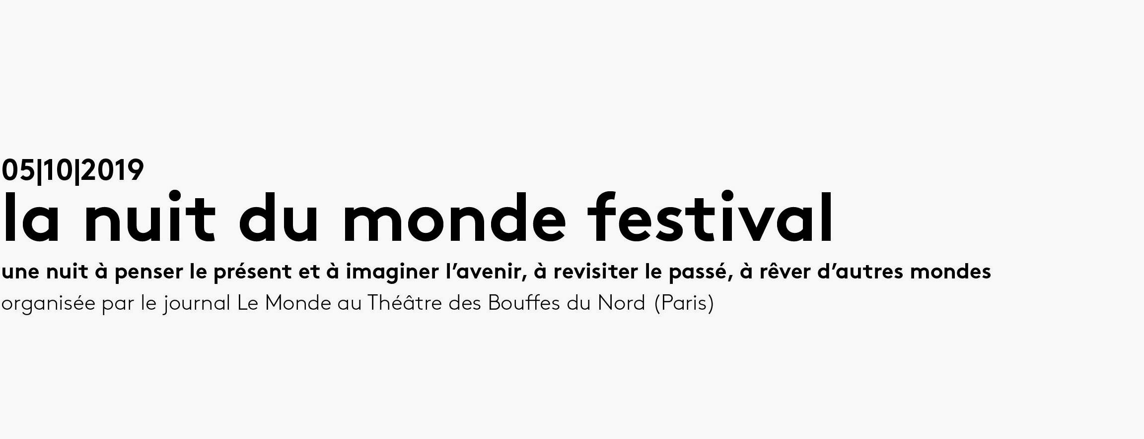 La nuit du monde Festival