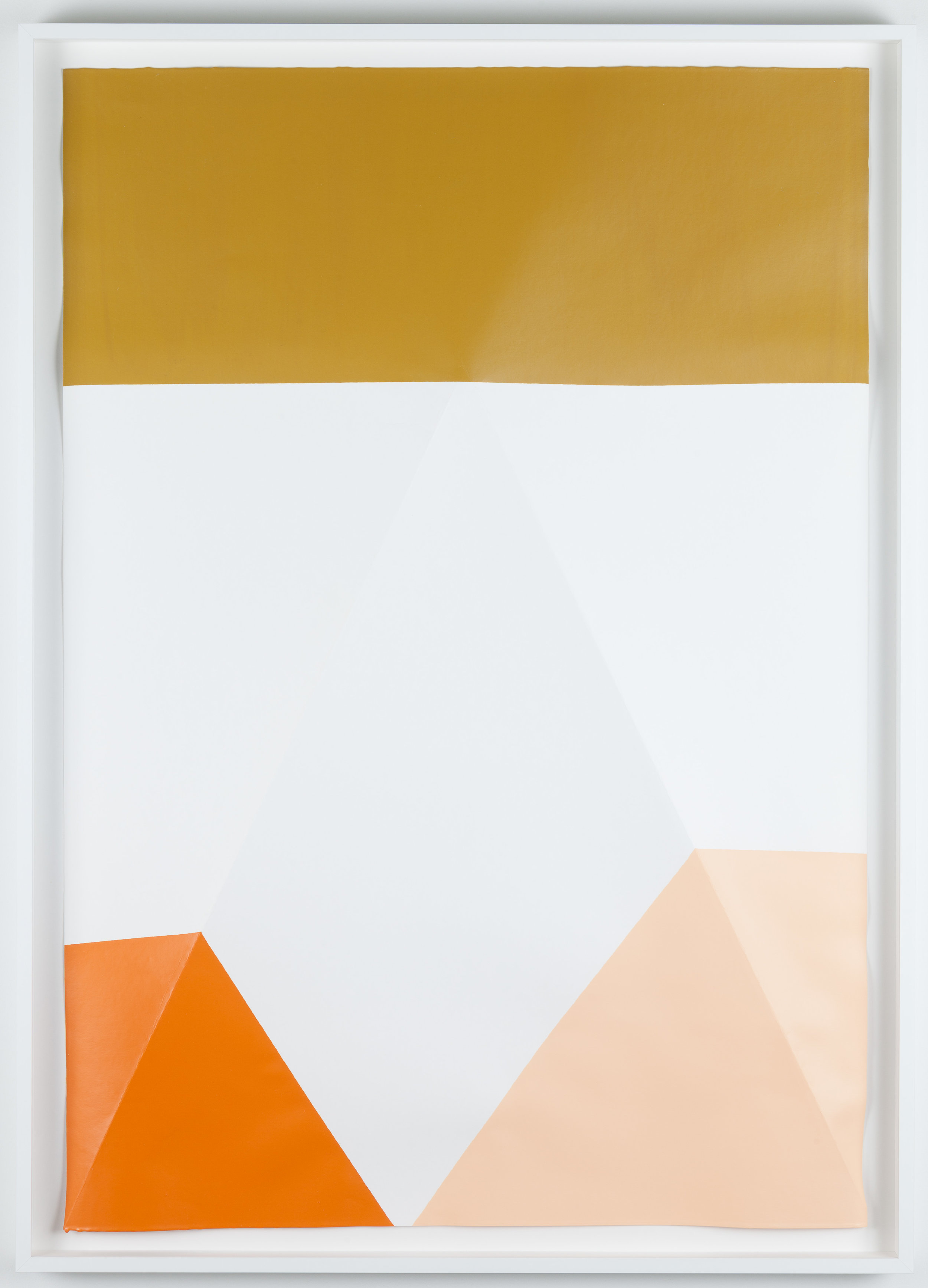Dip / 12.  2017. Acrylic on paper. 107 x 77 x 5,5 cm. Artist´s frame with UV/AR glass.