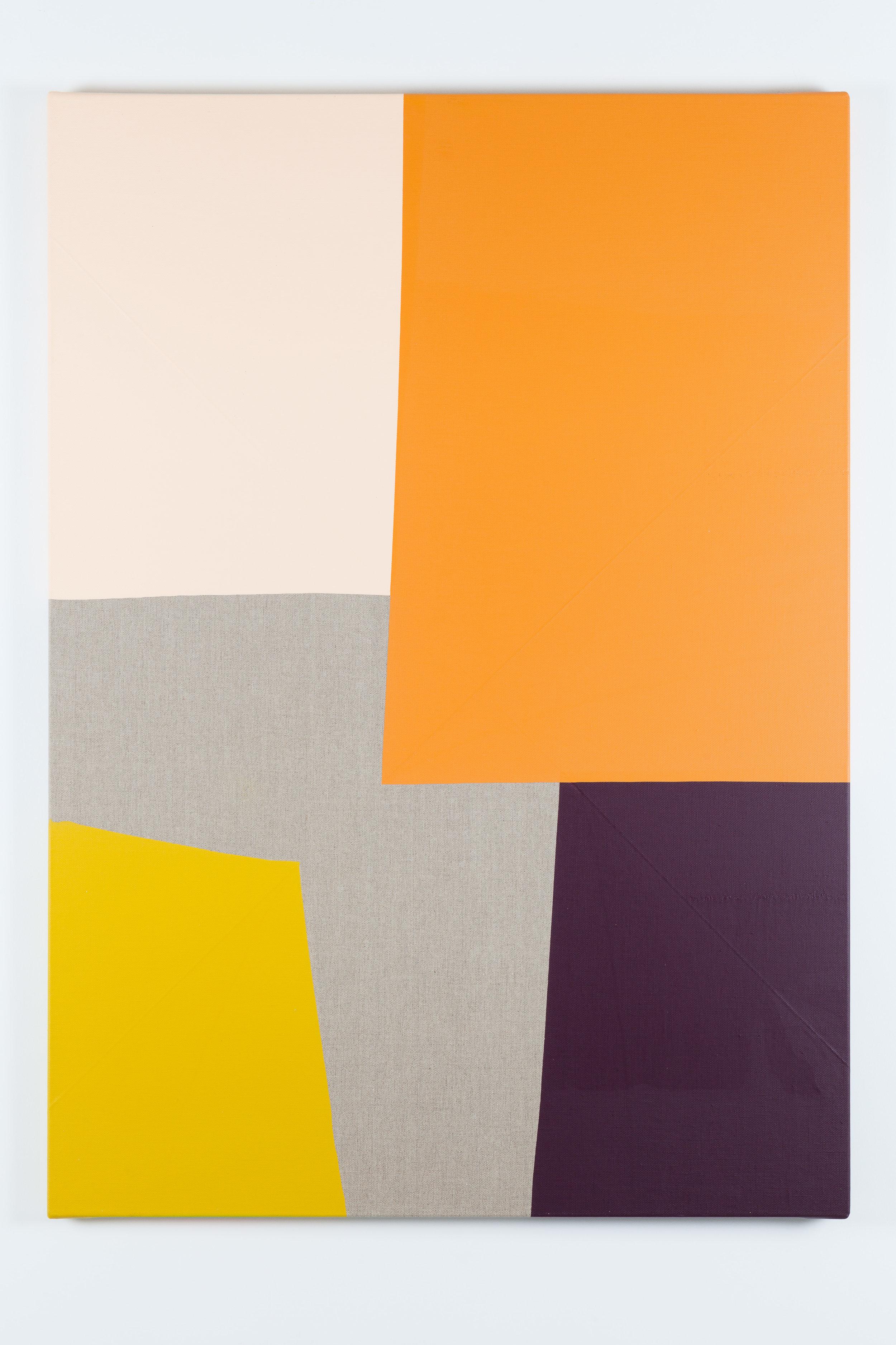 Dip / 3 . 2017. Acrylic on linen canvas. 139 x 100 x 3,5 cm