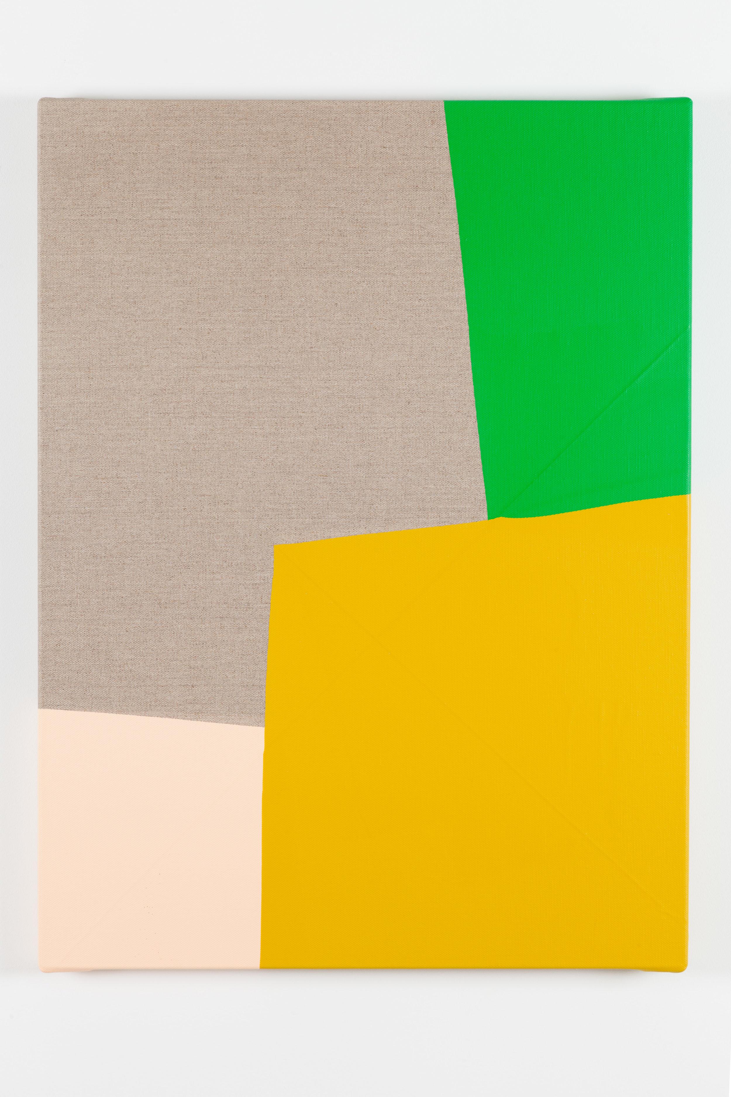 Dip / 4. 2017. Acrylic on linen canvas. 79,5 x 60 x 3,5 cm.