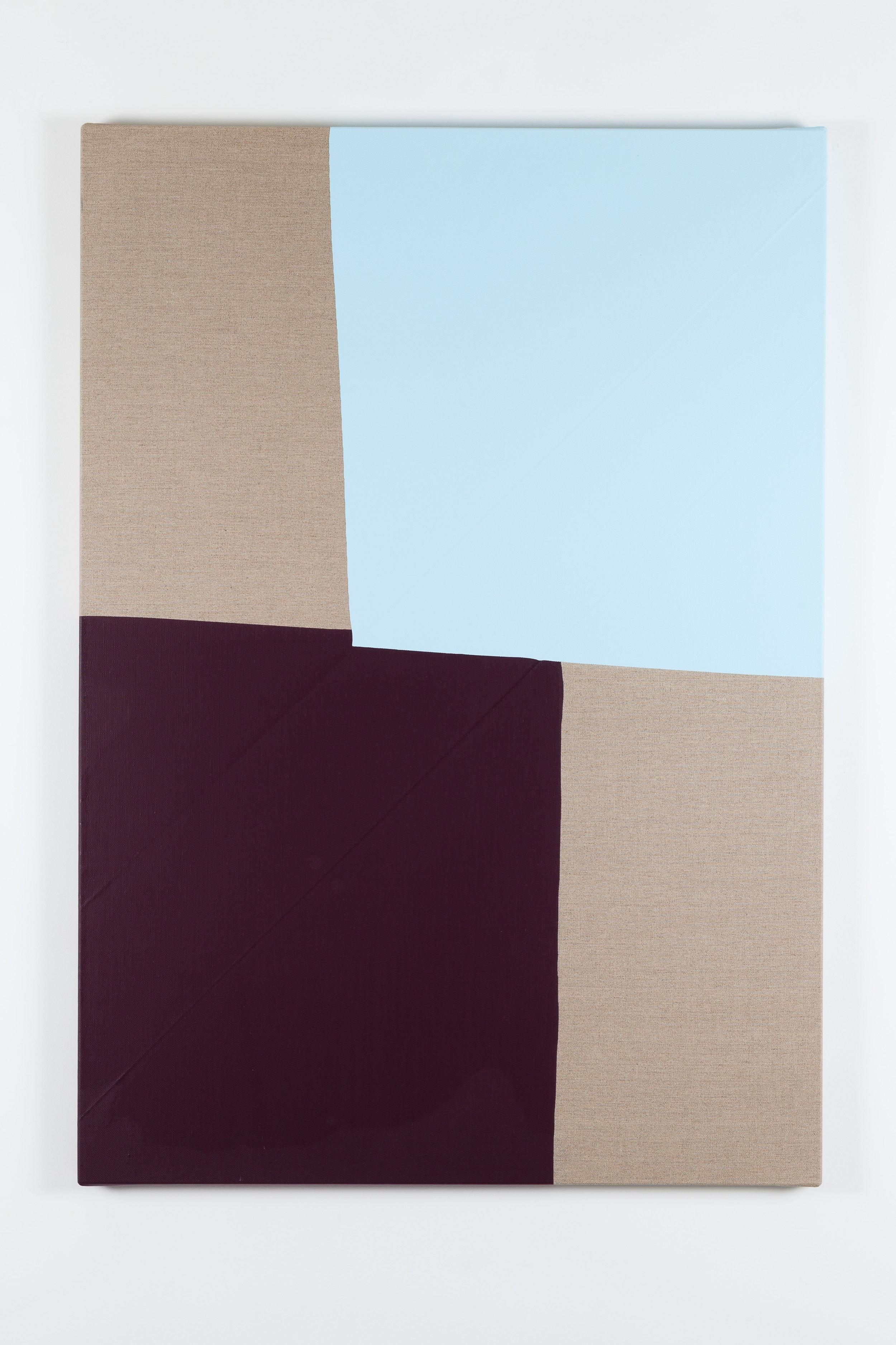 Dip / 2 . 2017. Acrylic on linen canvas. 134 x 95 x 3,5 cm.