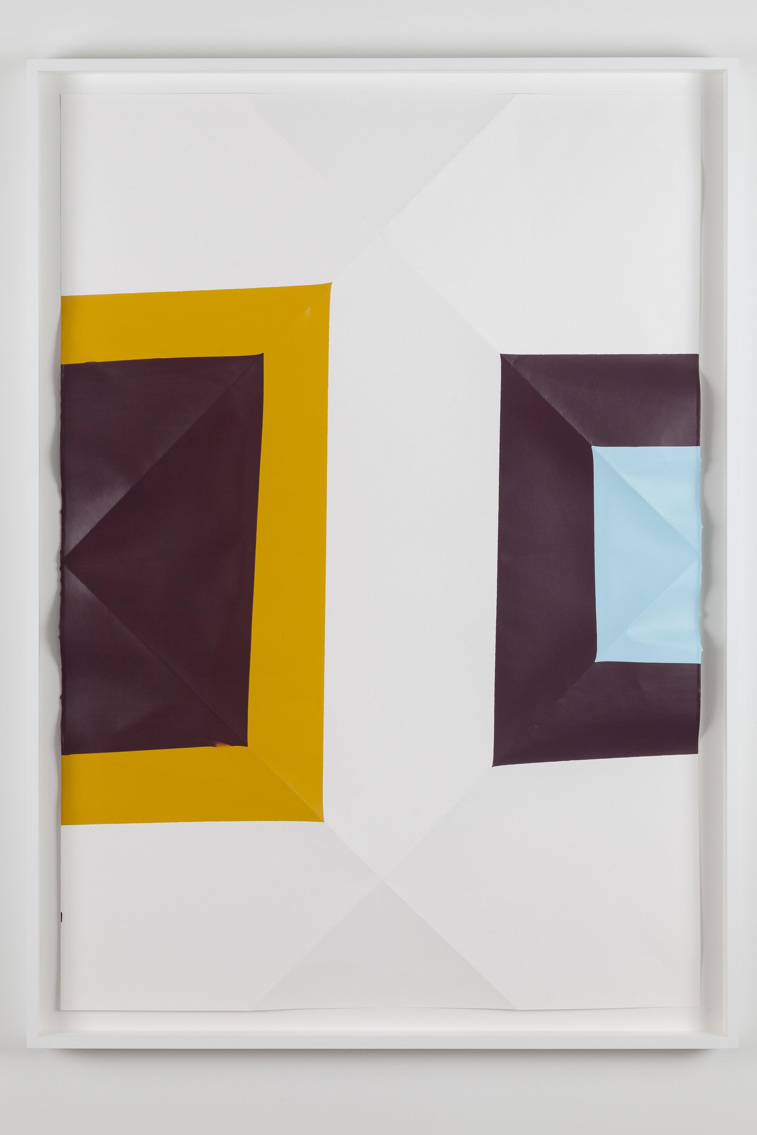 Dip / 11.  2017. Acrylic on paper. 107 x 77 x 5,5 cm. Artist´s frame with UV/AR glass.