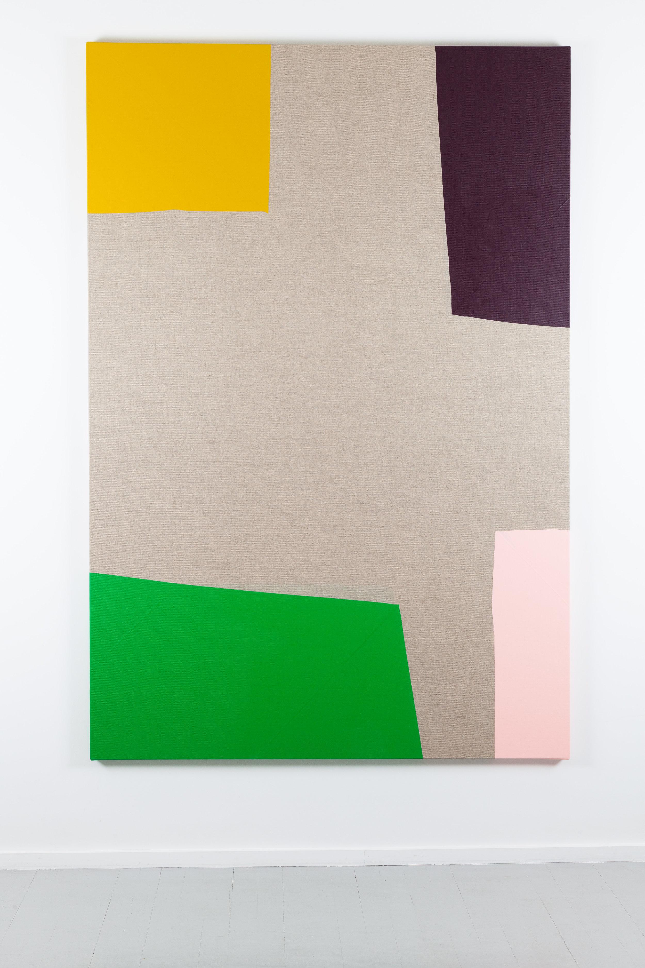 Dip / 9 . 2017. Acrylic on linen canvas. 198,5 x 134 x 3,5 cm.