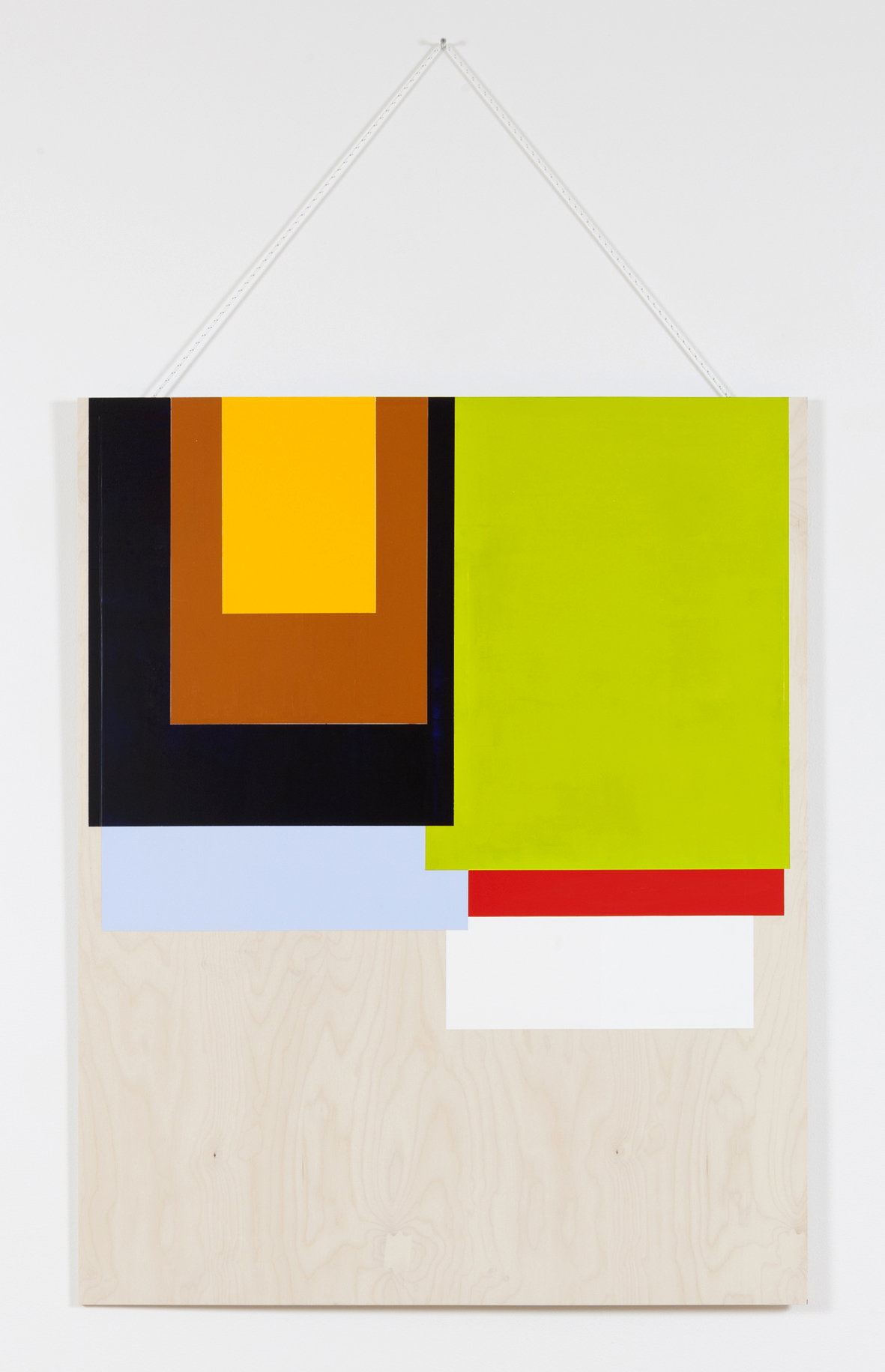 Collected Colors # 2 . 2015. Acrylic and wax on birch plywood. 125 x 100 cm.