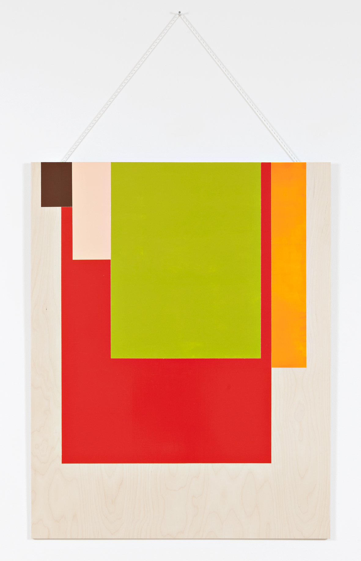 Collected Colors # 1 . 2015. Acrylic and wax on birch plywood. 125 x 100 cm.