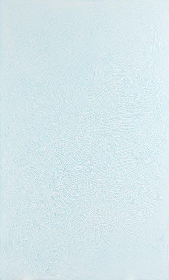 Fingerprint # 1. 2014. Acrylic on alucore. 208x125 cm.