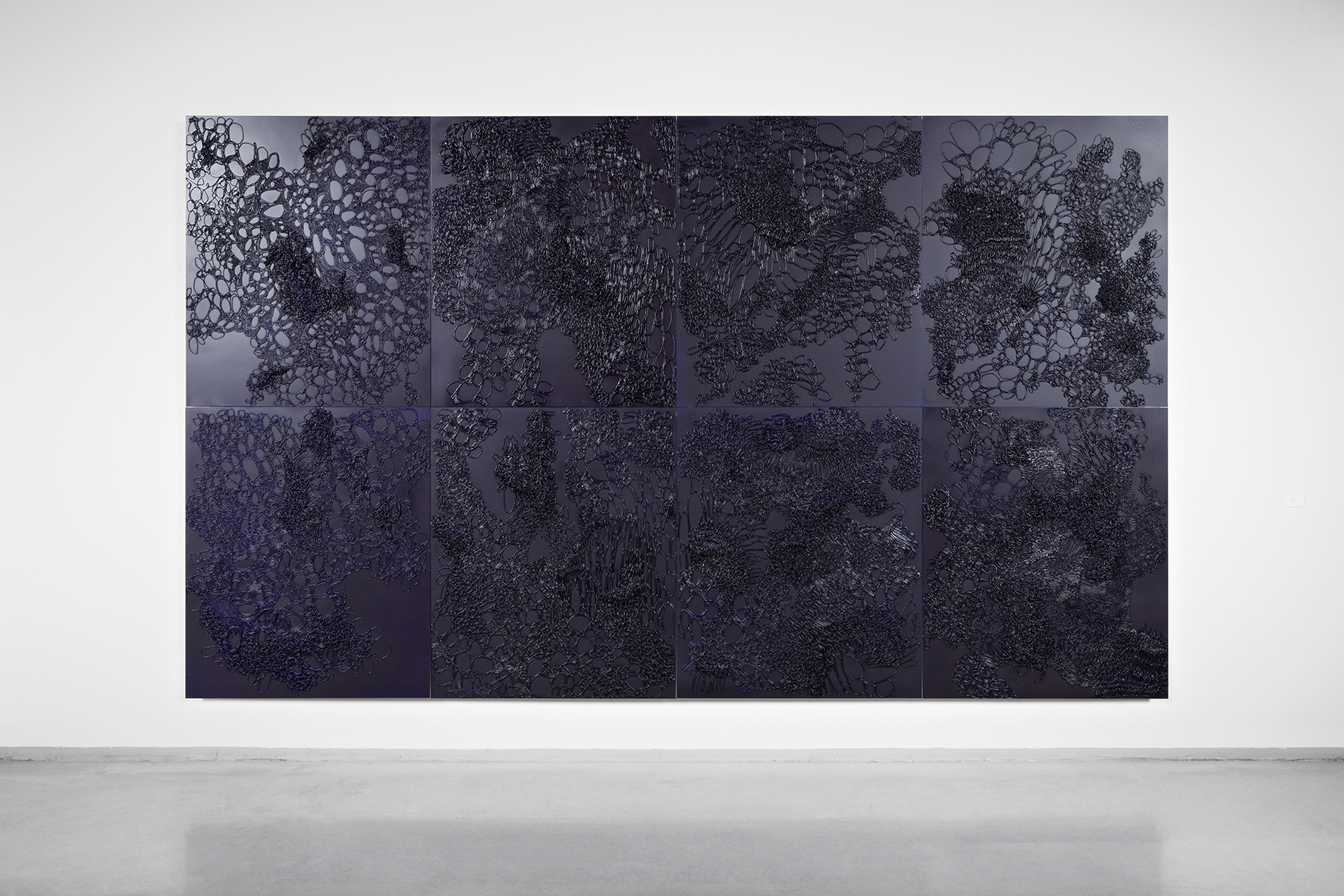 Midnight Blue . 2006-08. Acrylic on aluminium. 400 x 240 cm. 8 panels.