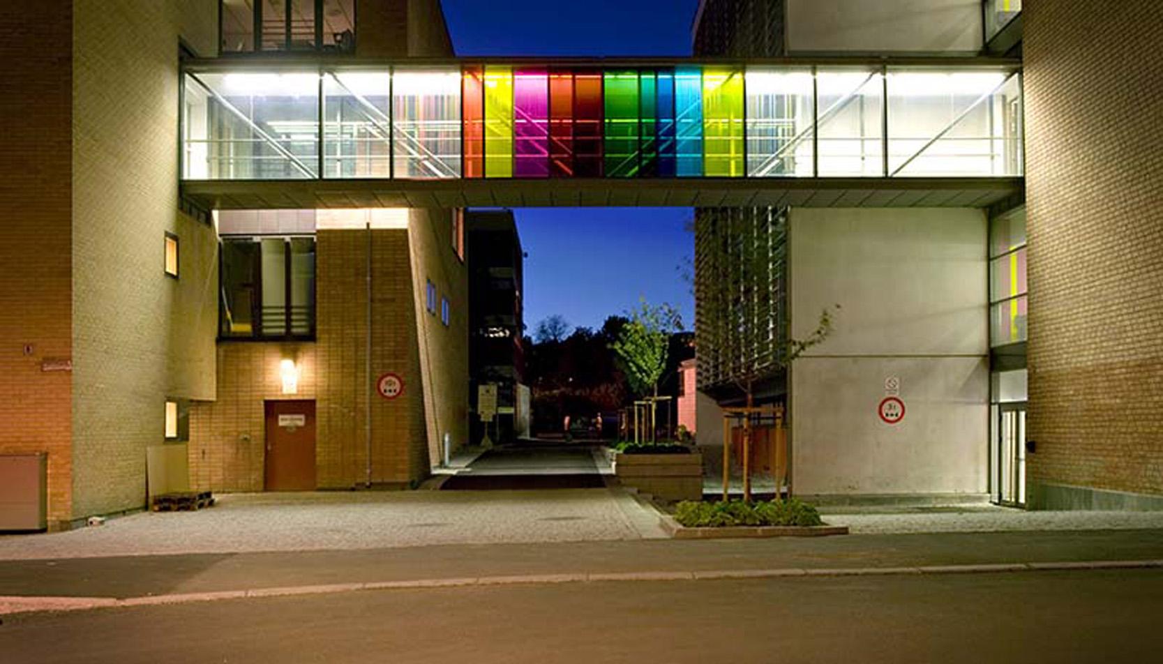 Norges Musikkhøgskole. Oslo. 2006-07. Silkscreen on glass.